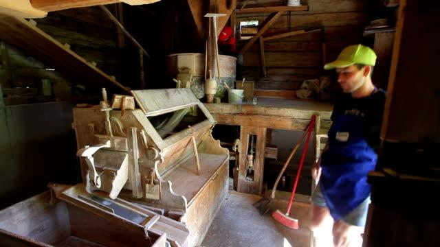 water mill, san vigilio di marebbe, st. vigil, italy - watermill stock videos & royalty-free footage