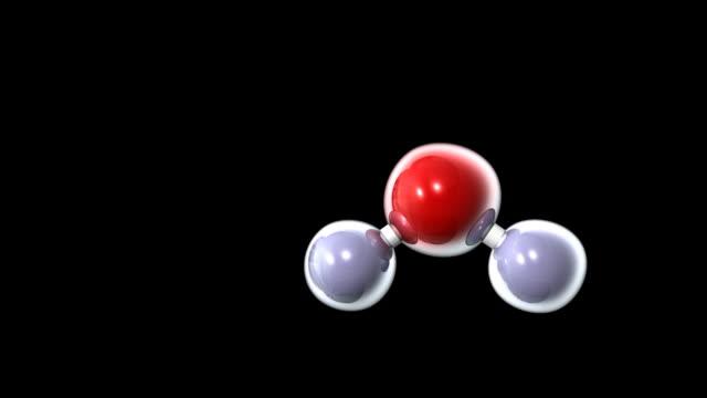 h2o water molecule - molecola video stock e b–roll