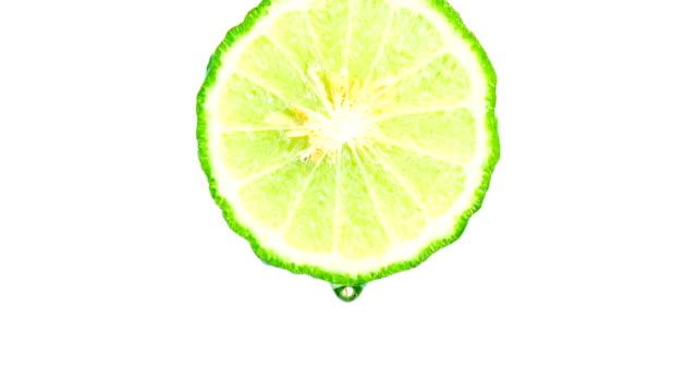 Water or oils drop from bergamot