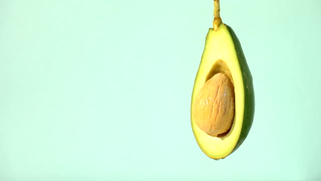 Water or oils drop on avocado