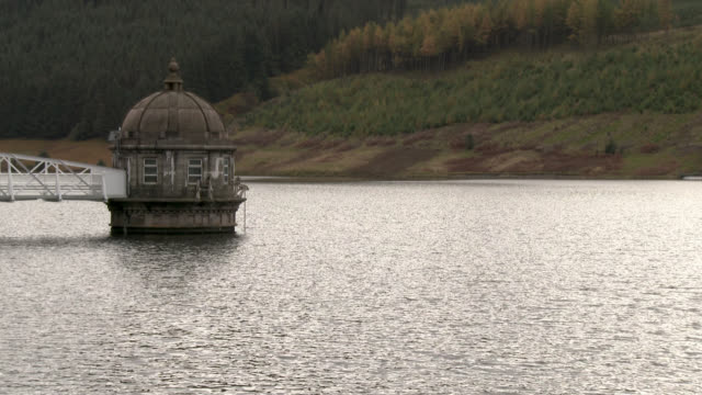 Water outlet tower on a Scottish reservoir