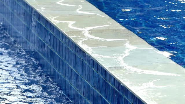 water overflowing from the pool - mosaic stock videos and b-roll footage