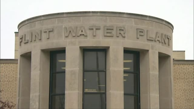wxmi water plant in flint michigan after dangerously high levels of lead were discovered in the city's water - michigan stock videos and b-roll footage