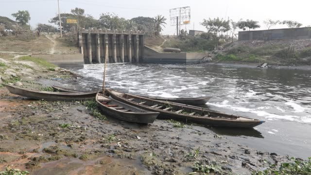 water pollution in the turag river has reached alarming levels. millions of cubic meters of toxic waste from the thousands of industries and topped... - toxic waste stock videos & royalty-free footage