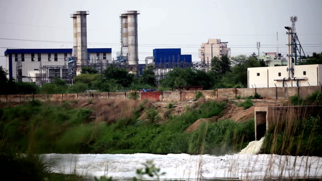 Water pollution near factory
