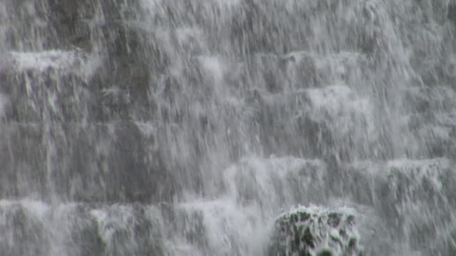 CU,  TD,  water pouring over dam,  Ellan Valley,  Wales,  England