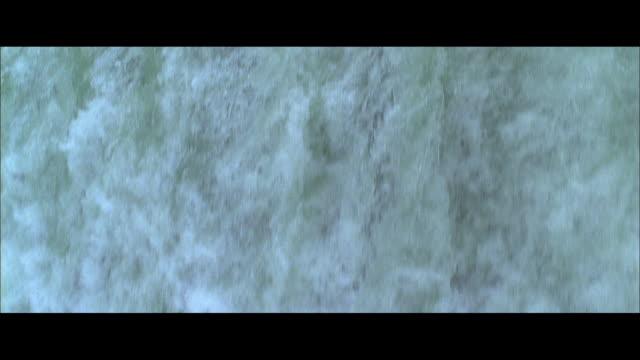 TU Water pouring over the lip of Horseshoe Falls / Niagara Falls, Ontario, Canada