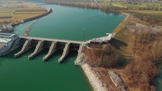 water power plant from above - hydroelectric power stock videos & royalty-free footage