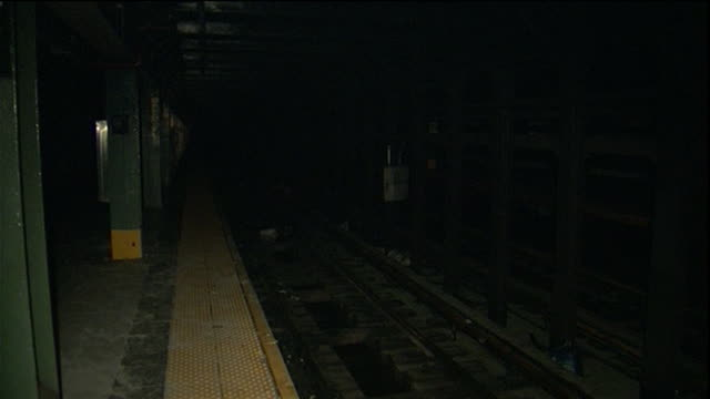 water pumping and subway tracks b-roll - hurricane sandy aftermath subway tracks subway tracks - dark; empty - environment or natural disaster or climate change or earthquake or hurricane or extreme weather or oil spill or volcano or tornado or flooding stock videos & royalty-free footage
