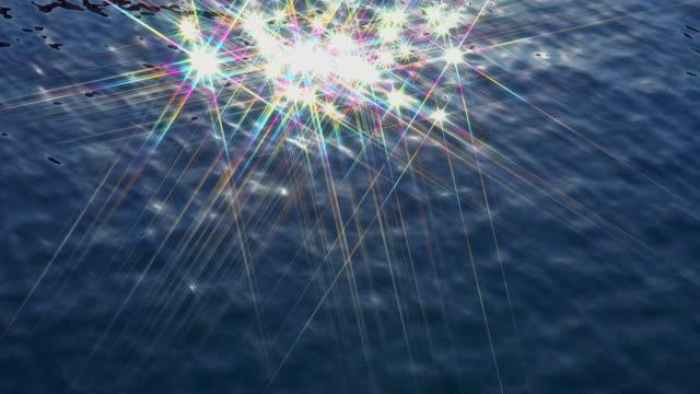 vídeos y material grabado en eventos de stock de reflejo de agua - estrellas - profundo