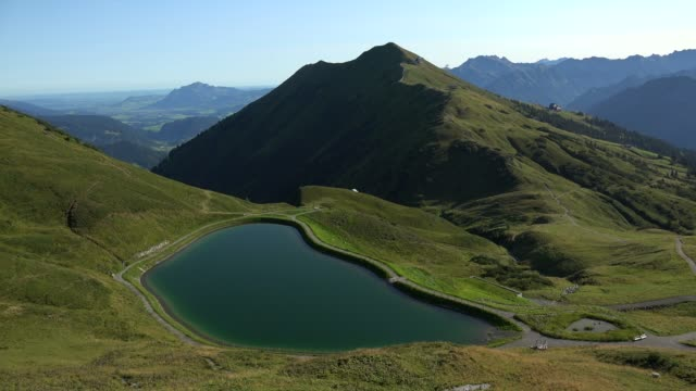 Water reservoir between Kanzelwand (Vorarlberg, Austria) and Fellhorn, Oberstdorf, Allg?u, Swabia, Bavaria, Germany