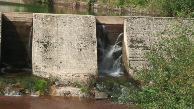 Water reservoir in the mountain