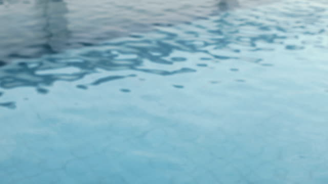 Water ripples in the pool