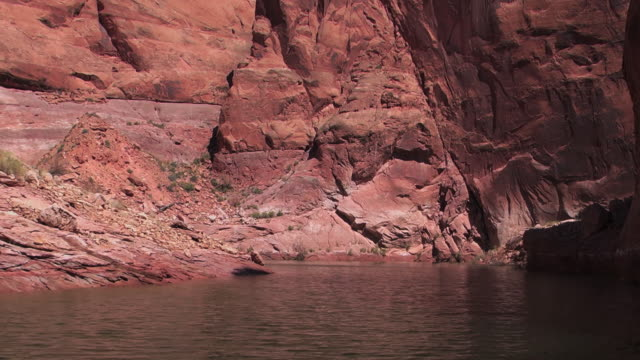 water ripples on a river in a canyon in nevada. - black canyon stock videos & royalty-free footage