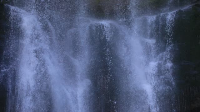 "water runs from the waterfall at ""cirque de saint meme"" a popular tourist site on september 3, 2020 in saint pierre d entremont, france. the 'cirque... - water stock videos & royalty-free footage"