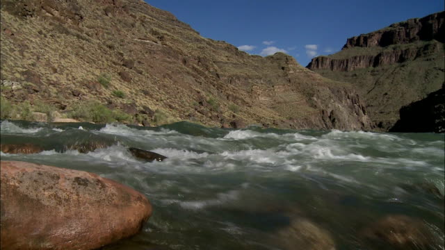 Water rushes in the Colorado River.