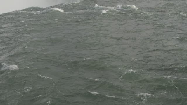 water rushing over edge of niagara falls - river niagara stock videos & royalty-free footage
