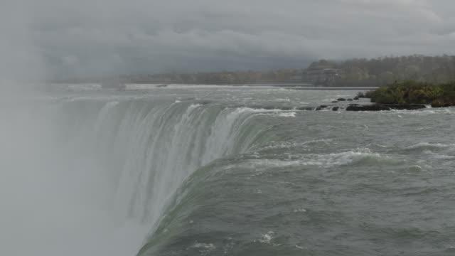 water rushing over niagara falls - river niagara stock videos & royalty-free footage