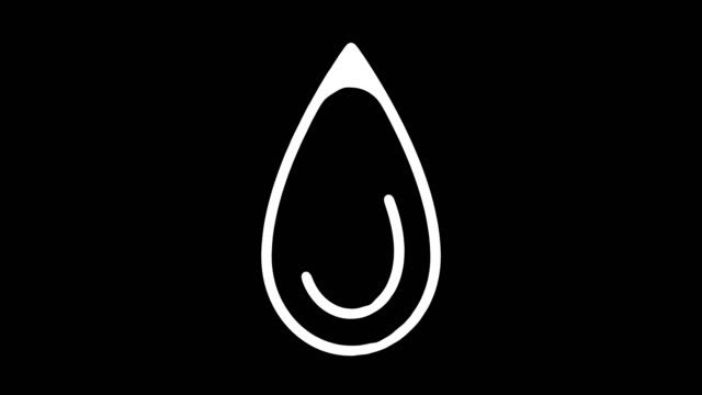 water scarcity blackboard line animation with alpha - alpha channel stock videos & royalty-free footage