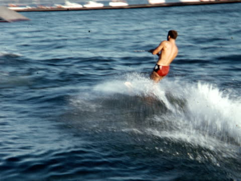 1955 montage water ski show / toronto, canada - 1955 stock videos & royalty-free footage
