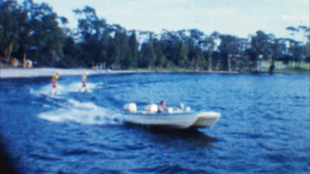 water ski show (archival 1960s) - 1960 stock videos & royalty-free footage