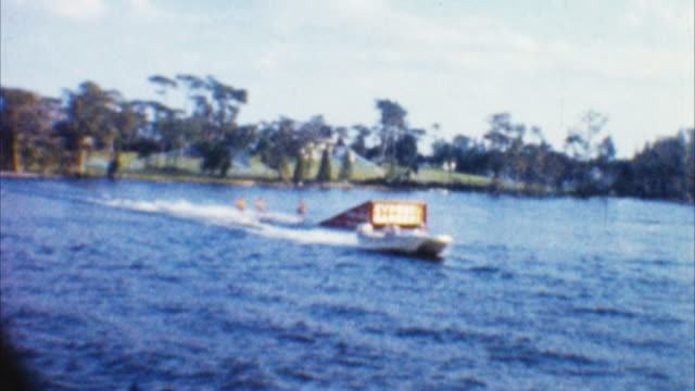 water ski show (archival 1960s) - 1965 stock videos & royalty-free footage