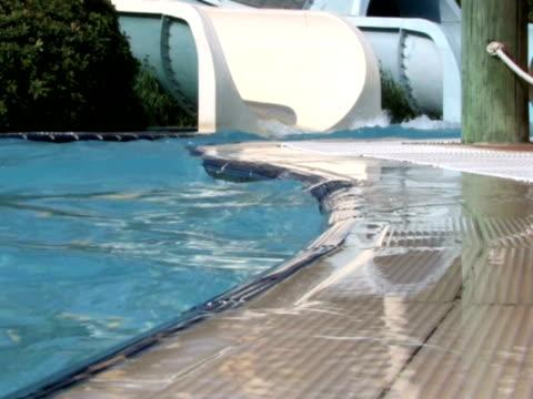 water slide - utebassäng bildbanksvideor och videomaterial från bakom kulisserna