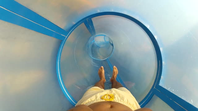 water slide (hd) - rubber ring stock videos & royalty-free footage