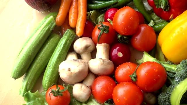 Water Splash On Vegetables