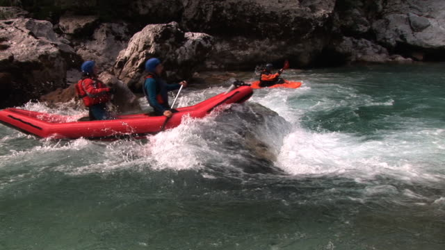 hd: water sports - inflatable raft stock videos and b-roll footage