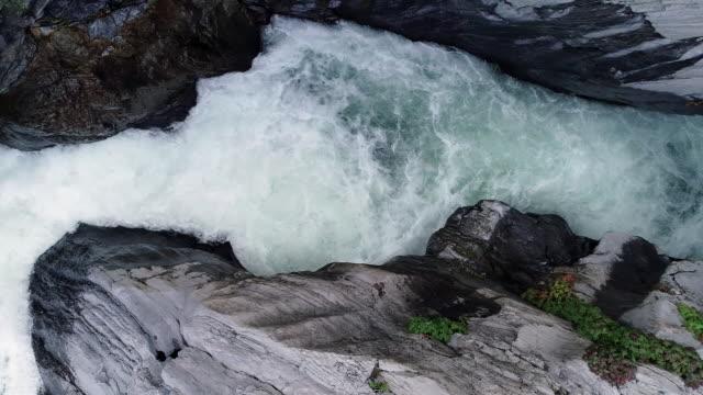 water stream of gumun pond, taebaek mountain, gangwon province, south korea - rapid stock videos & royalty-free footage