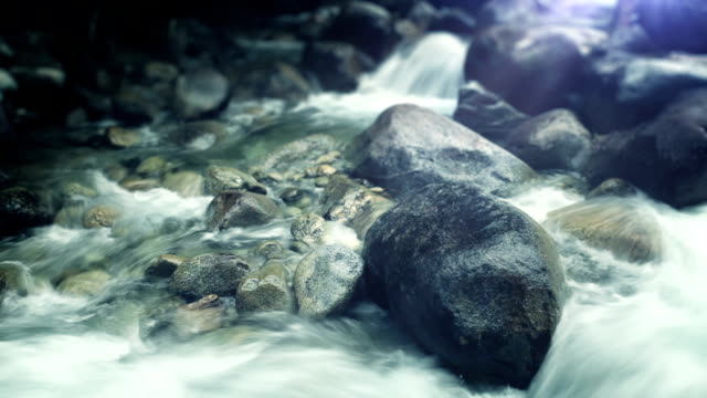 water stream - flowing water stock videos & royalty-free footage