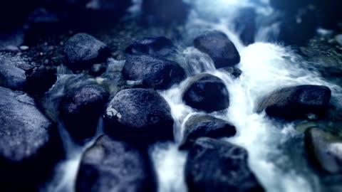 water stream - flowing water stock videos & royalty-free footage