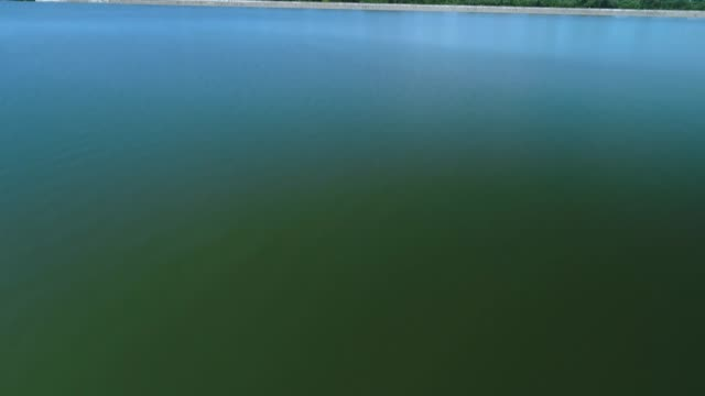 water surface - aerial view - reservoir stock videos & royalty-free footage