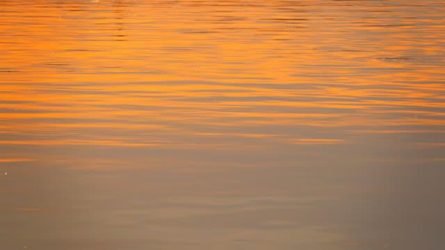vídeos y material grabado en eventos de stock de 4k: superficie del agua al atardecer - orange colour