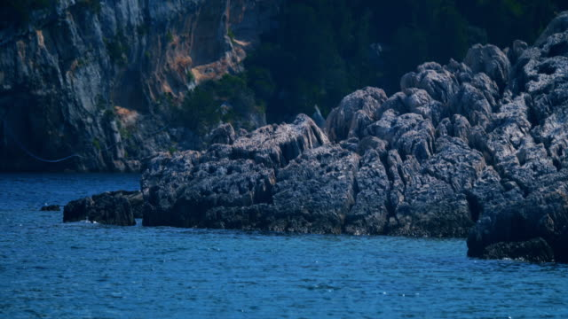 water surface, water pattern, looped, island'rocks - turquoise background stock videos & royalty-free footage