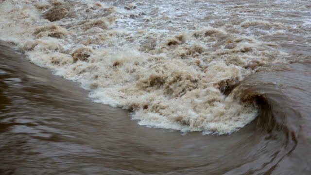 water swirl in river during flood - brown stock videos & royalty-free footage