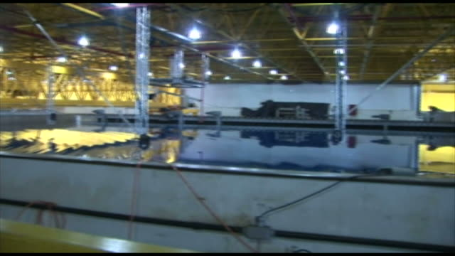 Water tank in expansive room in energy plant / Rio de Janeiro Brazil