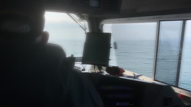 water taxi at katmai national park, alaska - water taxi stock videos & royalty-free footage
