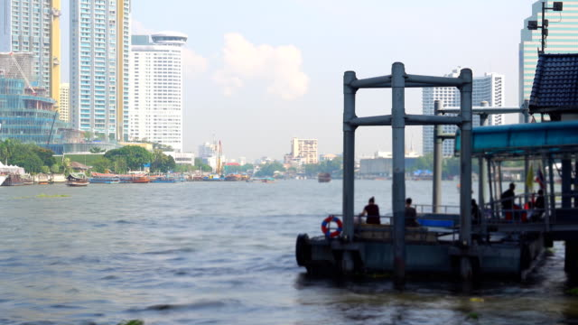 4k: water taxi in bangkok city, time lapse - water taxi stock videos & royalty-free footage