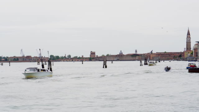 water taxi in venice - water taxi stock videos & royalty-free footage