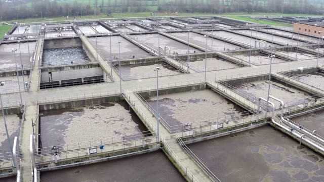 Water treatment plant (drone video)