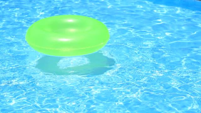 Water wave at swimming pool