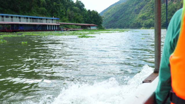 Water wave from boat ride.Hydro Water power from nature.