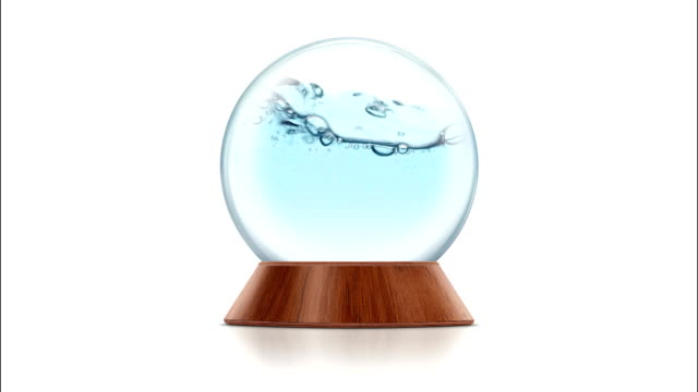 Water Waves with Bubbles in the Snow Globe