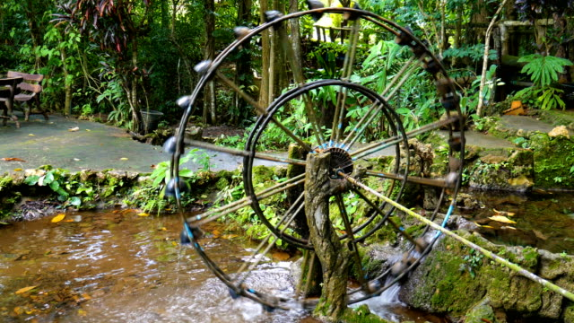 water wheel in tropical forest - water wheel stock videos and b-roll footage