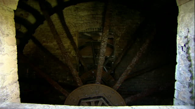 water wheel turning in flour mill - flour mill stock videos & royalty-free footage