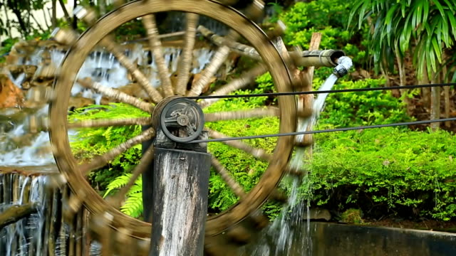water wheel. - watermill stock videos and b-roll footage