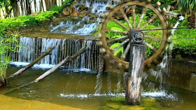 water wheel. - watermill stock videos & royalty-free footage