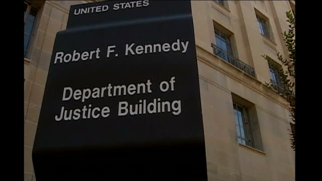 waterboarding practices sanctioned at highest level of bush administration usa ext general views of robert f kennedy department of justice building - waterboarding stock videos & royalty-free footage